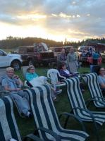 <h2>Canada Day At Disney Brook</h2><p>Watching out door movie</p>